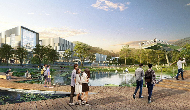 An Ecologically Focused Campus Landscape SASAKI
