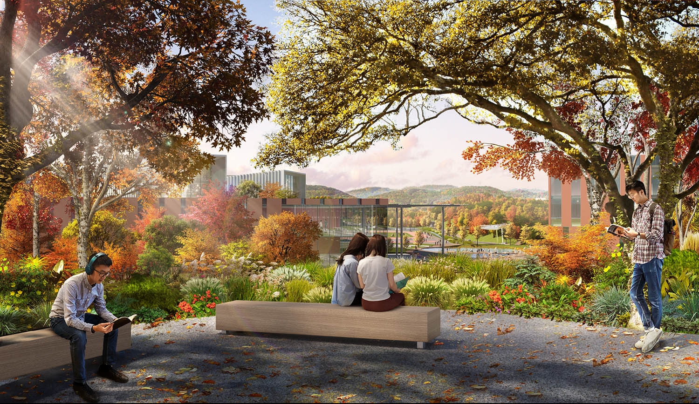 Campus Botanic Garden features diverse local plant communities SASAKI
