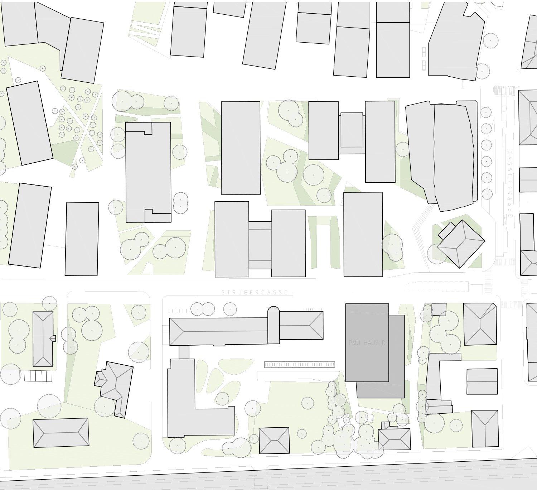 Site plan Berger+Parkkinen Architekten}