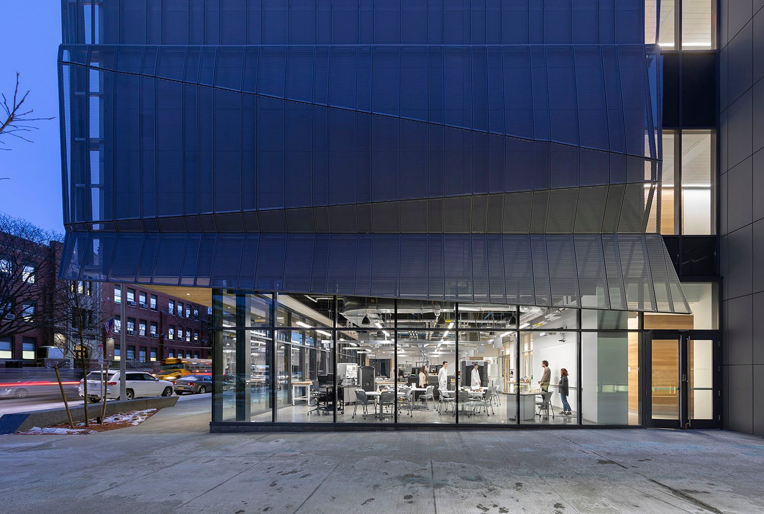Transparent Showcase of the Digital Fabrication and Additive Manufacturing lab Albert Vecerka