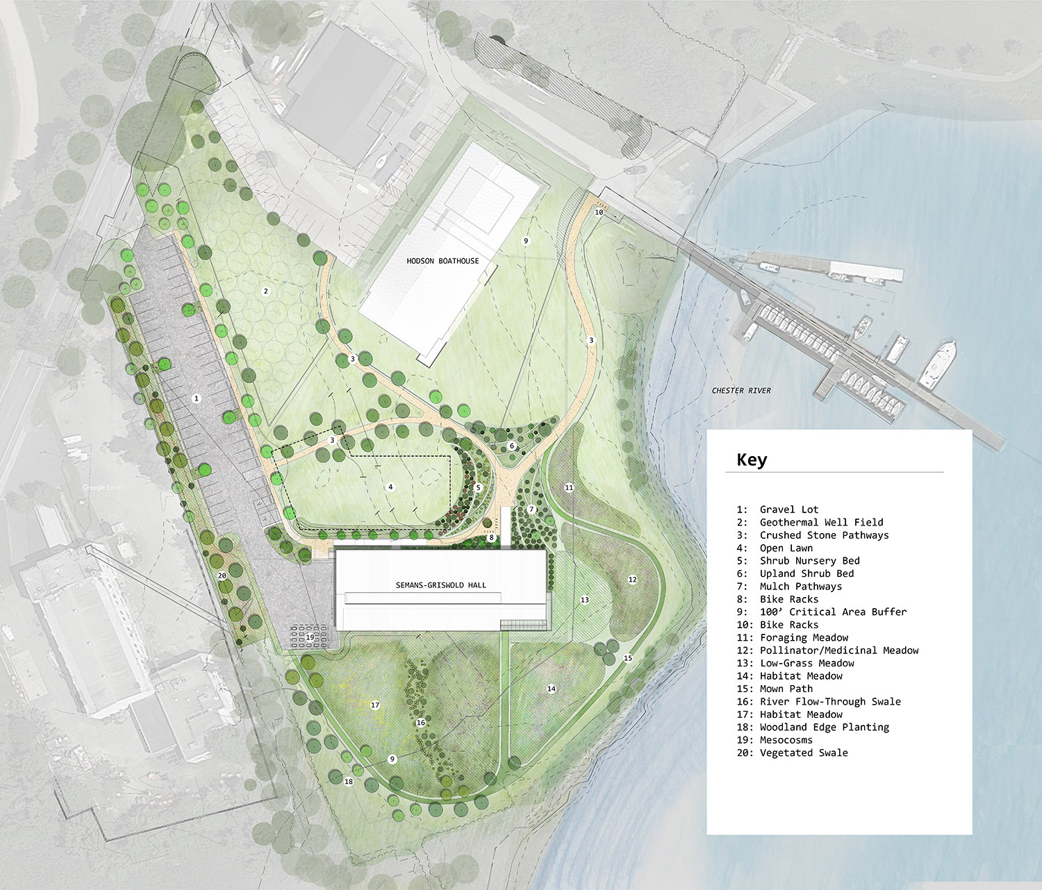 Waterfront campus site plan Ayers Saint Gross}