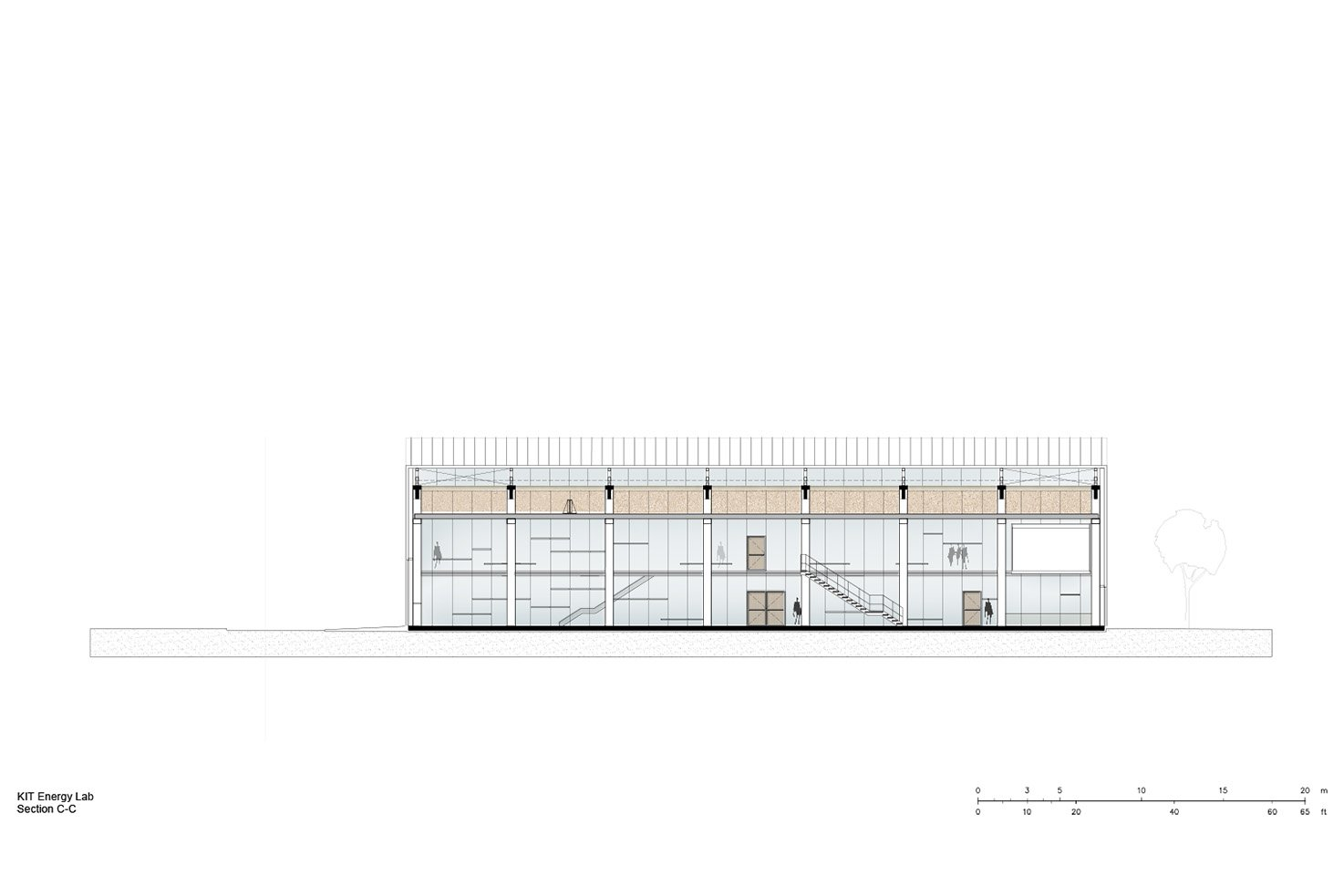 Section C-C Behnisch Architekten}