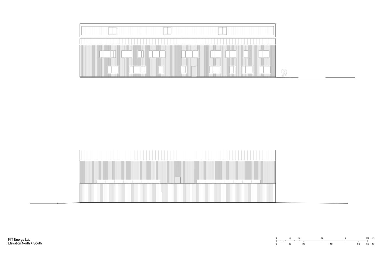Elevation North + South Behnisch Architekten}