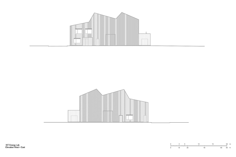 Elevation West + East Behnisch Architekten}