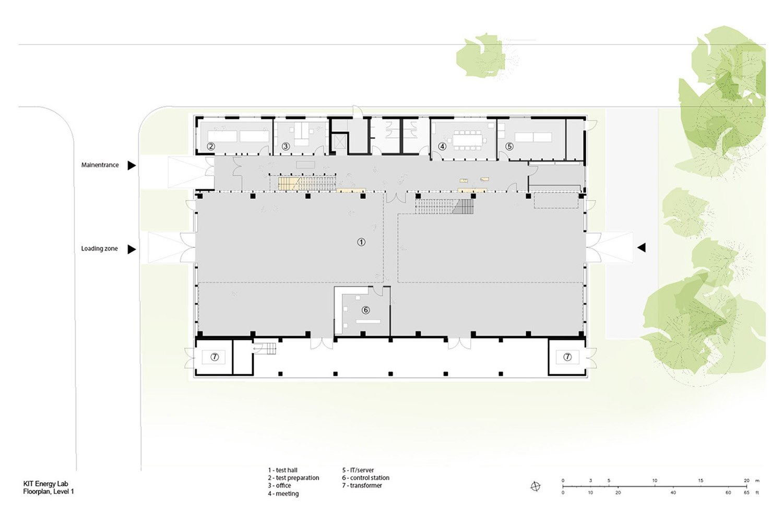 Floorplan, Level 1 Behnisch Architekten}