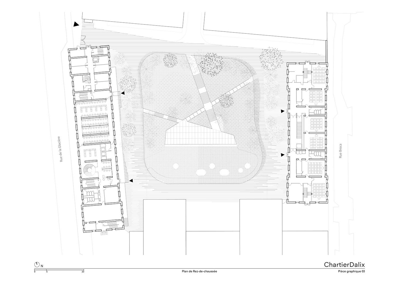 Ground floor plan ChartierDalix}