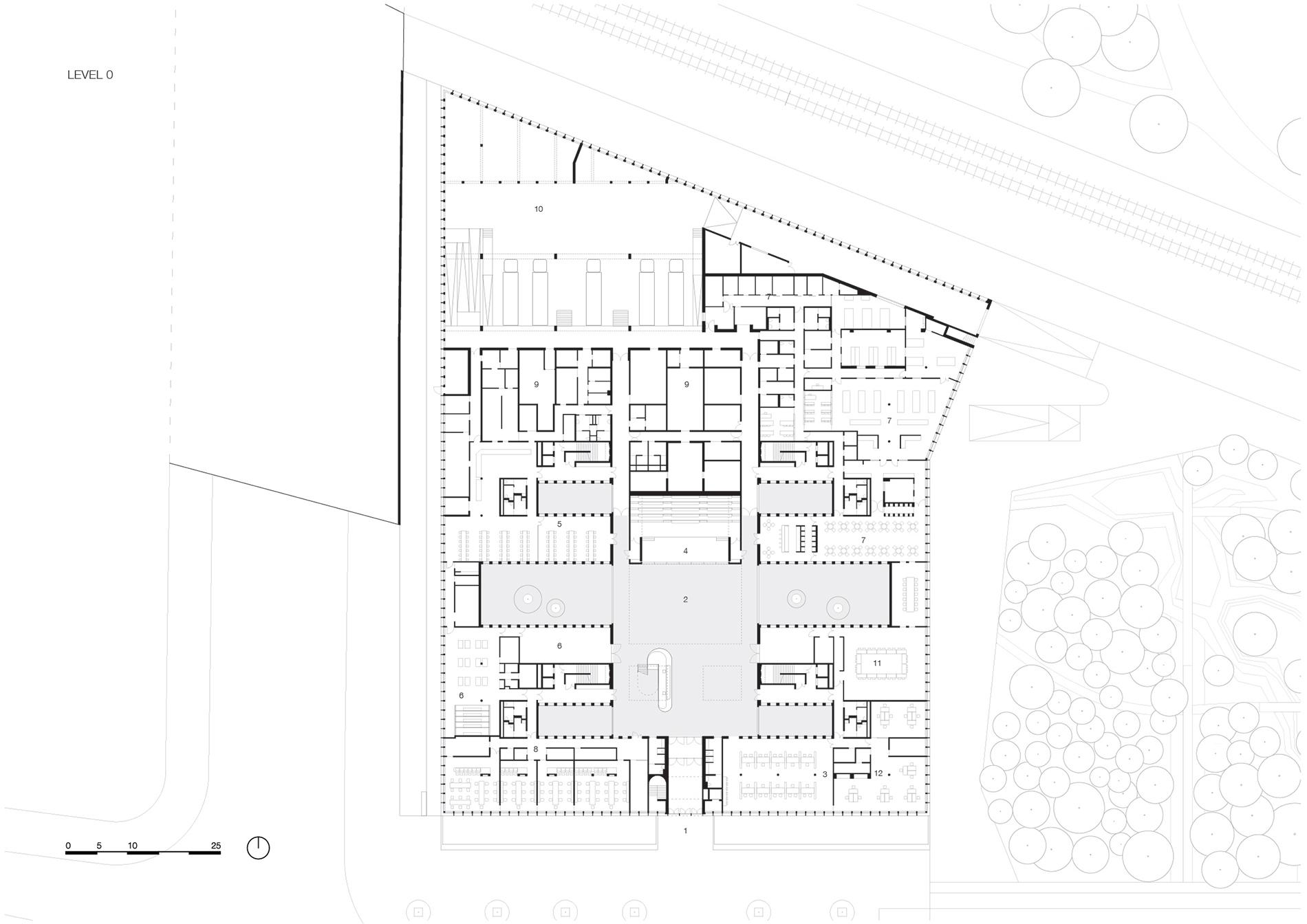 Floorplan level 0 KAAN Architecten}