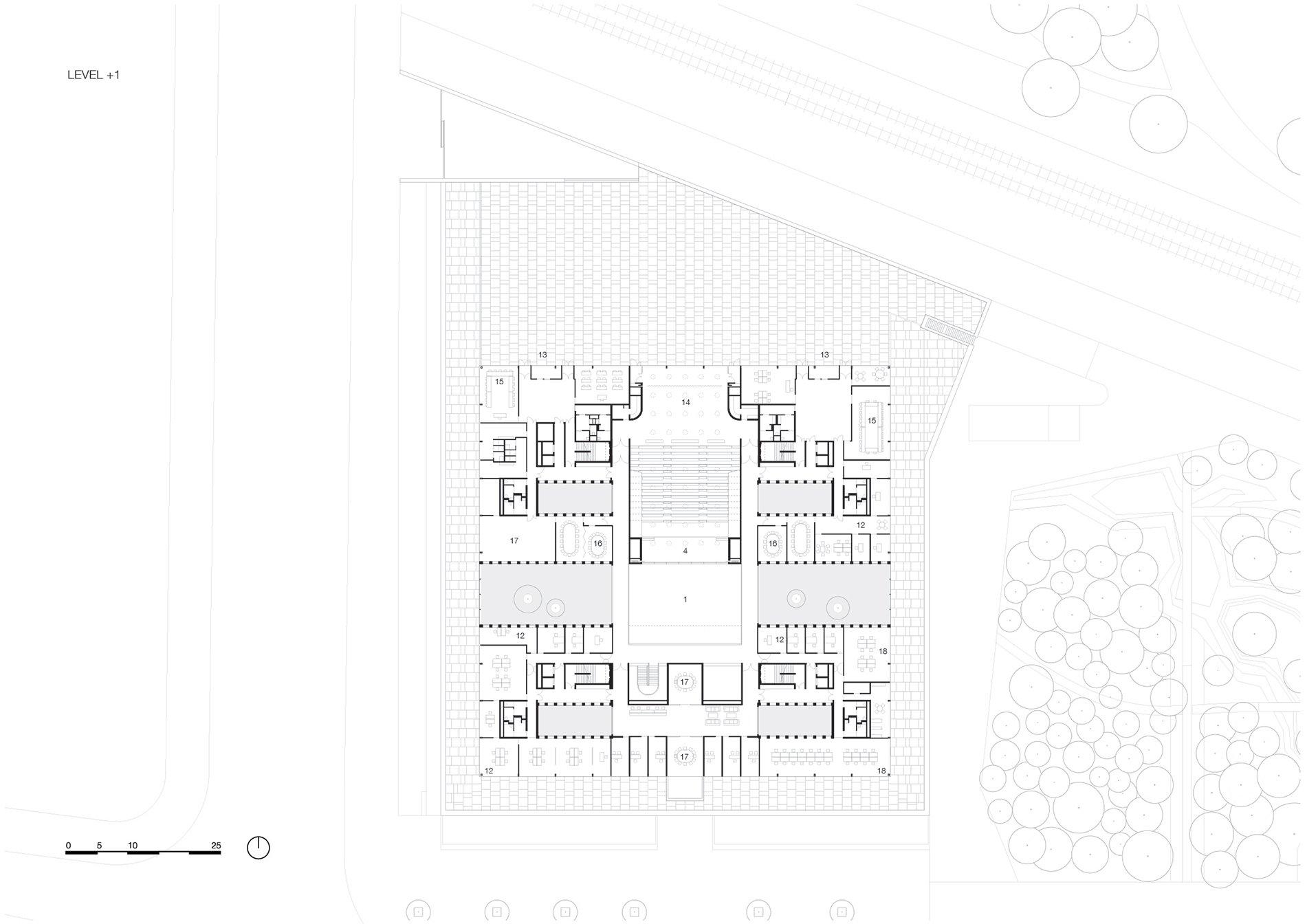 Floorplan level 1 KAAN Architecten}