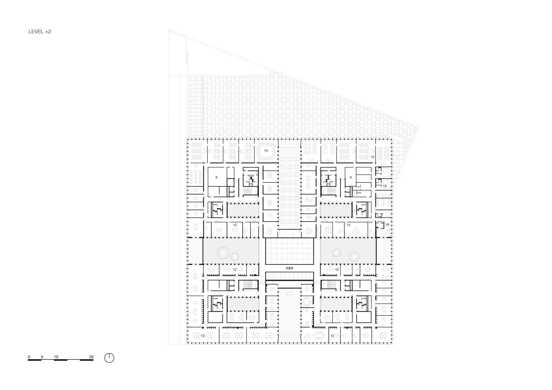 Floorplan level 2 KAAN Architecten}