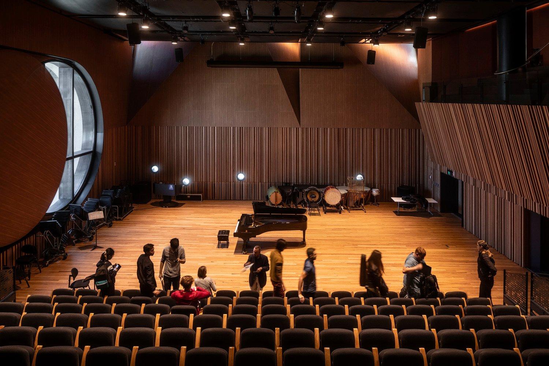 Kenneth Myer Auditorium features the 6m diameter oculus window Trevor Mein