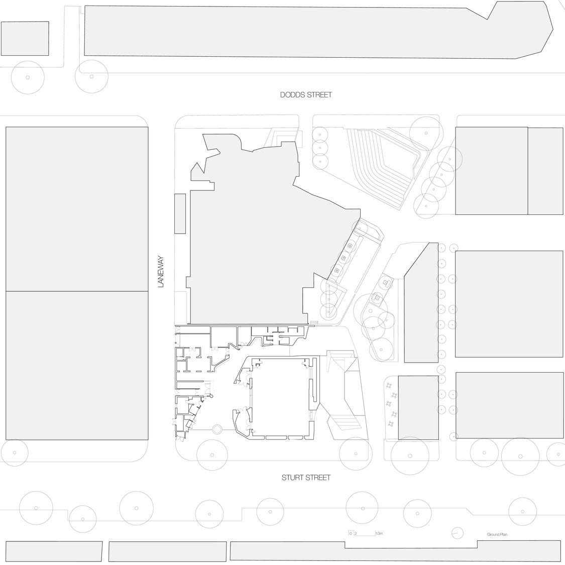 Site plan John Wardle Architects}