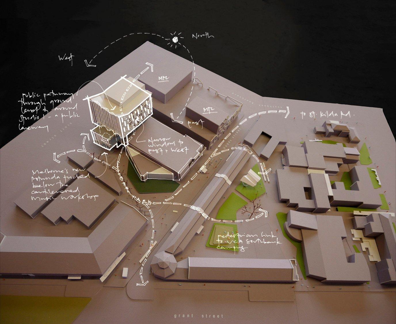 Site diagram John Wardle Architects}
