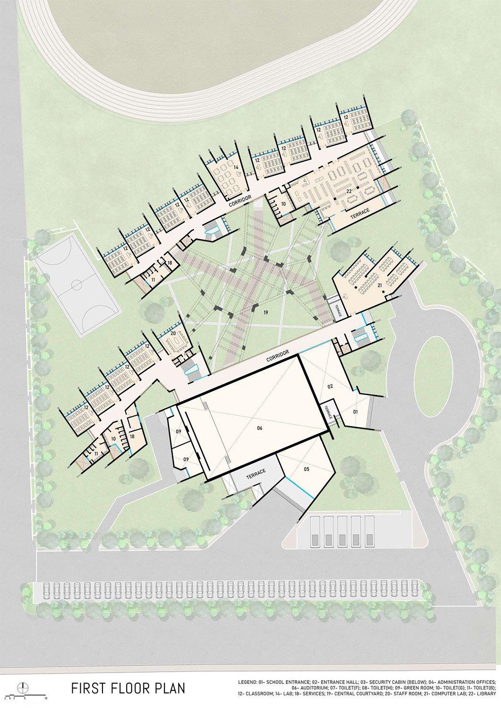First Floor Plan Sanjay Puri Architects}