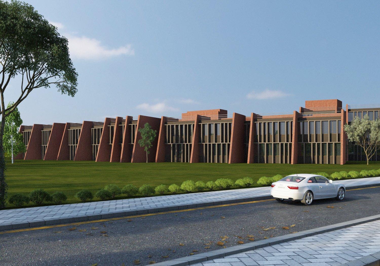 3d Render - North Side Sanjay Puri Architects}