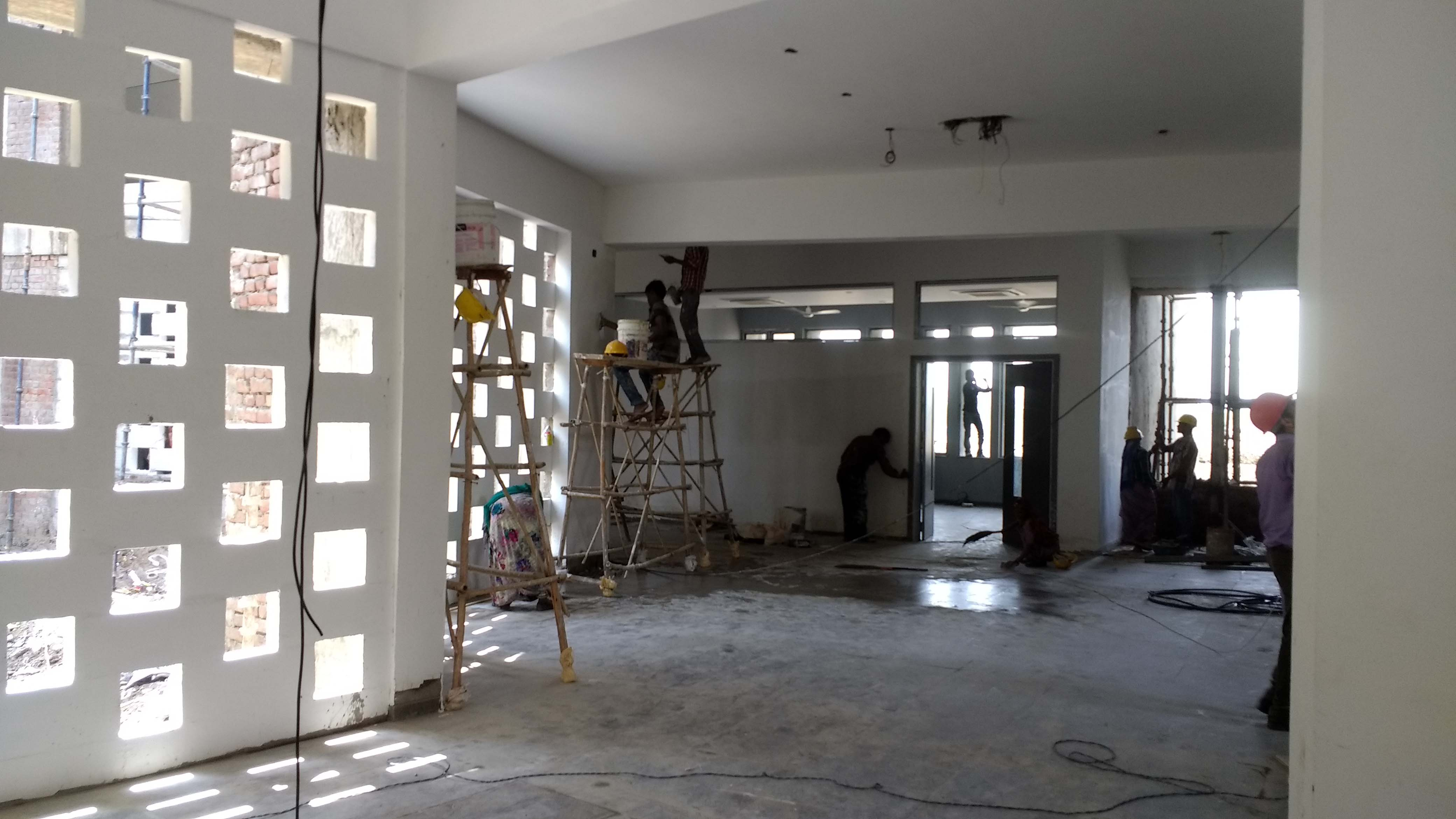 Site Image - Under Construction - Classroom Block Sanjay Puri Architects}