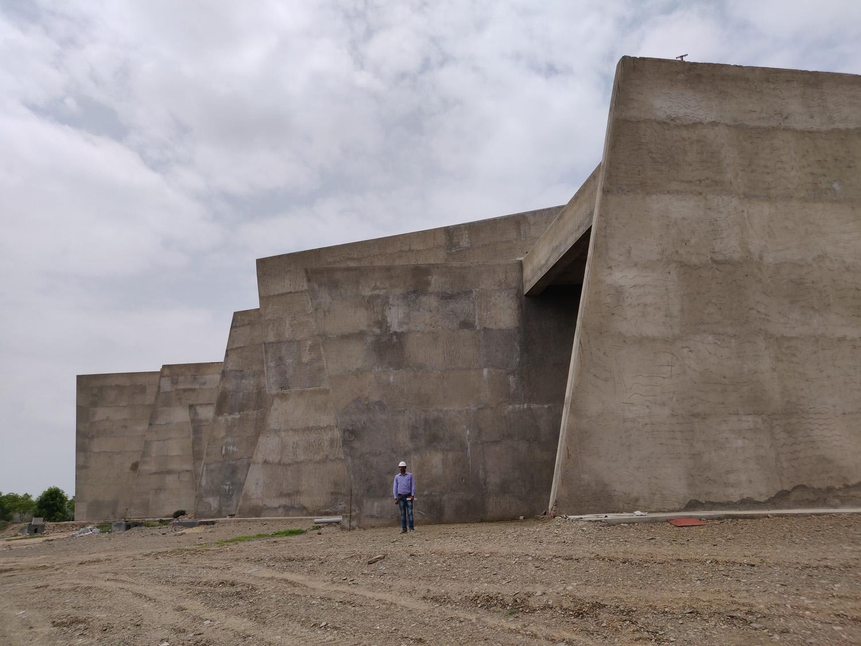 Site Image - Under Construction - Auditorium Entrance Sanjay Puri Architects}