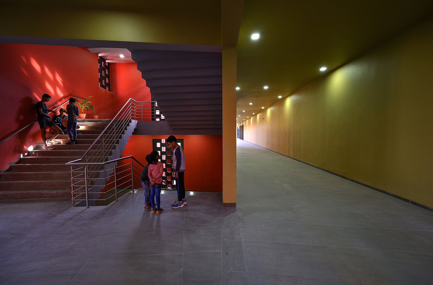 Interior Staircase View Dinesh Mehta