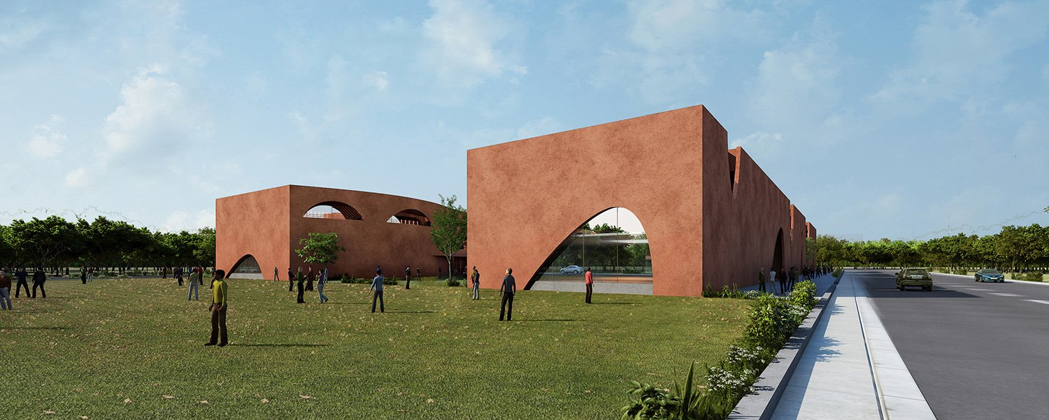 View from road junction Sanjay Puri Architects
