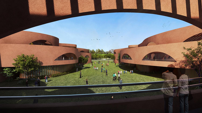 View from 1st floor balcony Sanjay Puri Architects