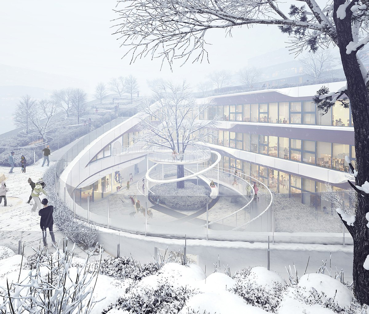 Rendering - 2. Snowing Day SAN}