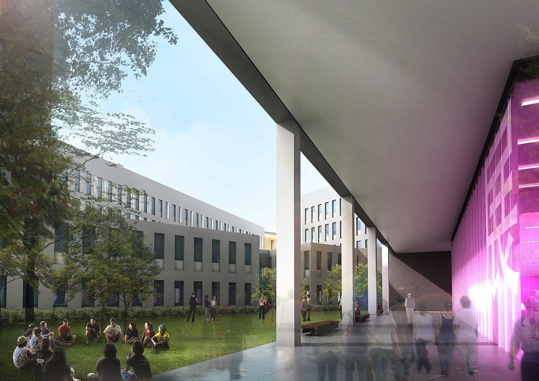 Faculty Courtyard Rocco Design Architects Associates}