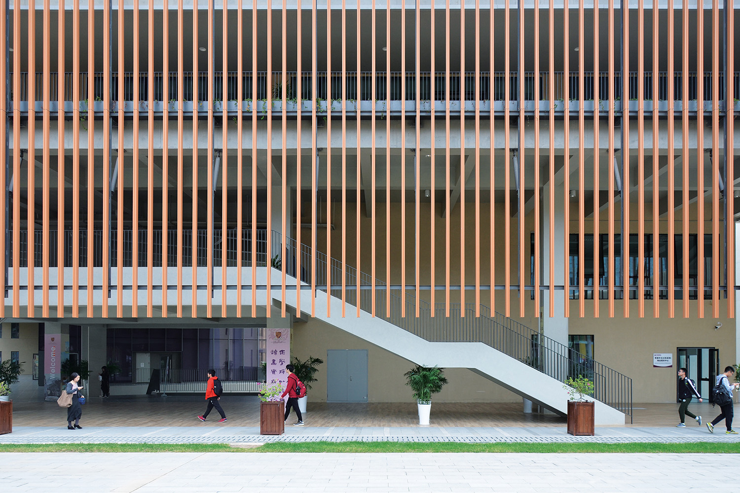 Solar Shading device for walking Rocco Design Architects Associates
