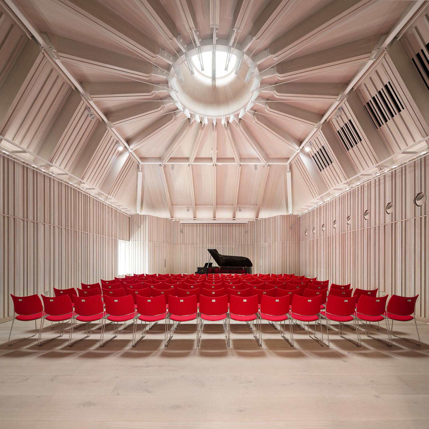 Angela Burgess Recital Hall - The new 100-seat Angela Burgess Recital Hall sits directly above the Theatre and is acoustically isolated from it Adam Scott