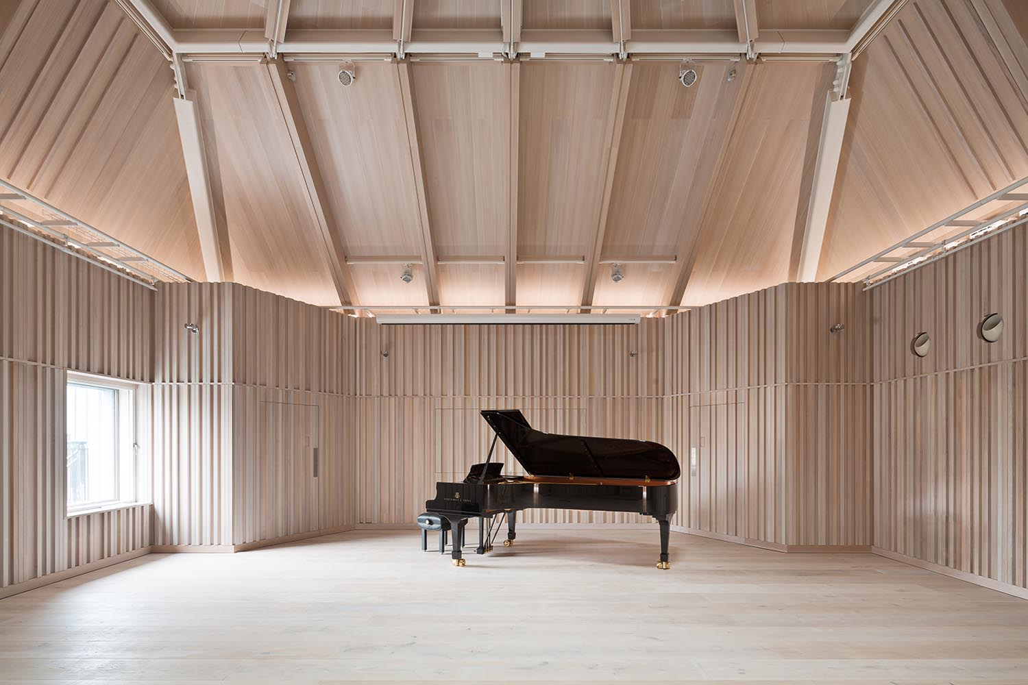 Angela Burgess Recital Hall - Rehearsal Mode with natural light from window in west elevation Adam Scott