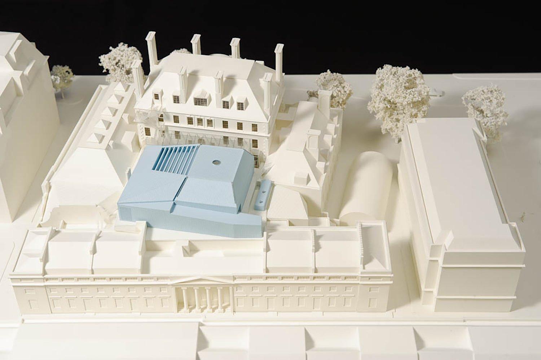 Site model Ian Ritchie Architects Ltd}