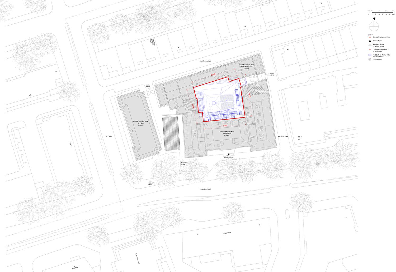 Site Plan Ian Ritchie Architects Ltd}