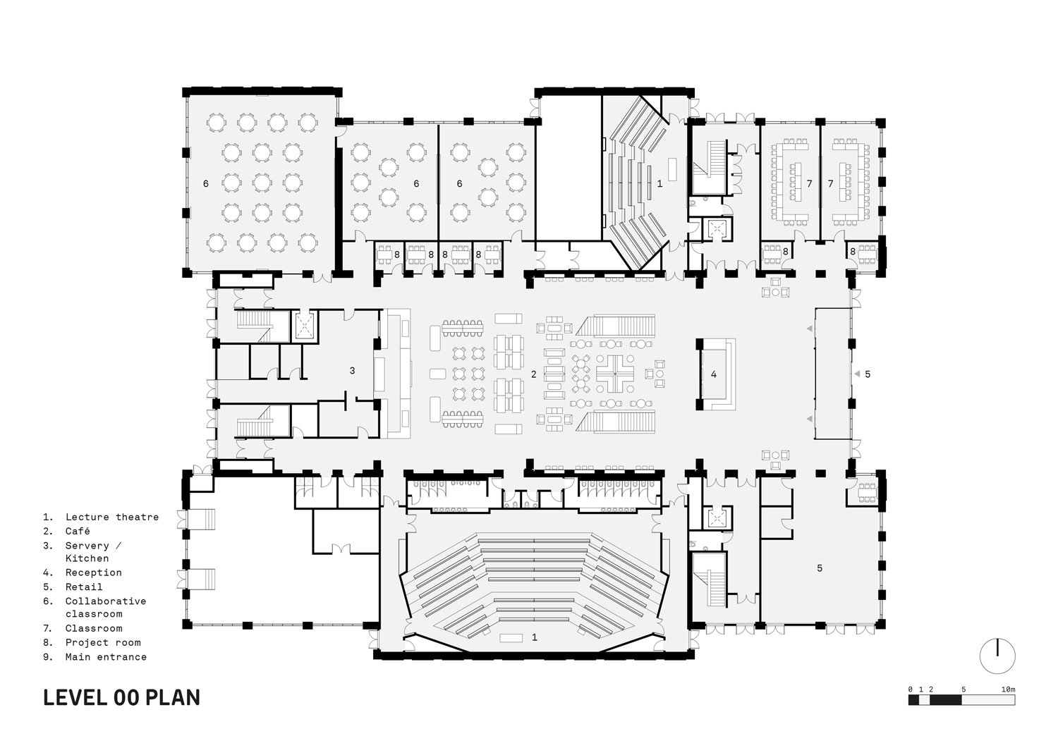 Level 00 Plan FaulknerBrowns Architects}