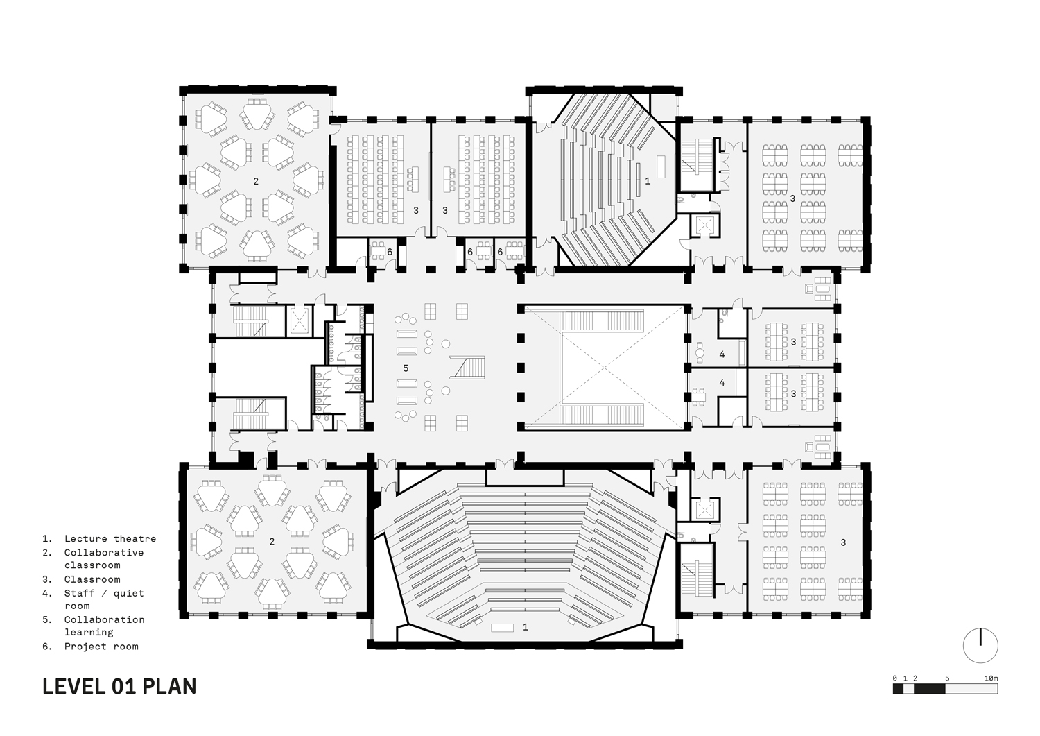 Level 01 Plan FaulknerBrowns Architects}