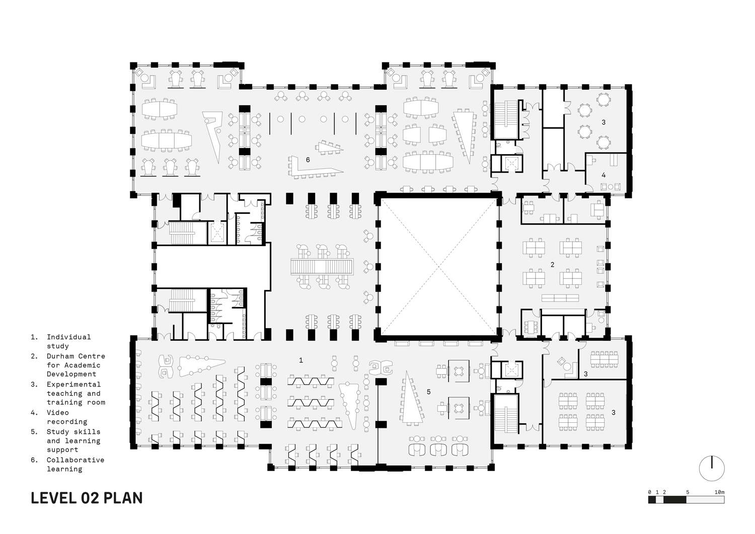 Level 02 Plan FaulknerBrowns Architects}