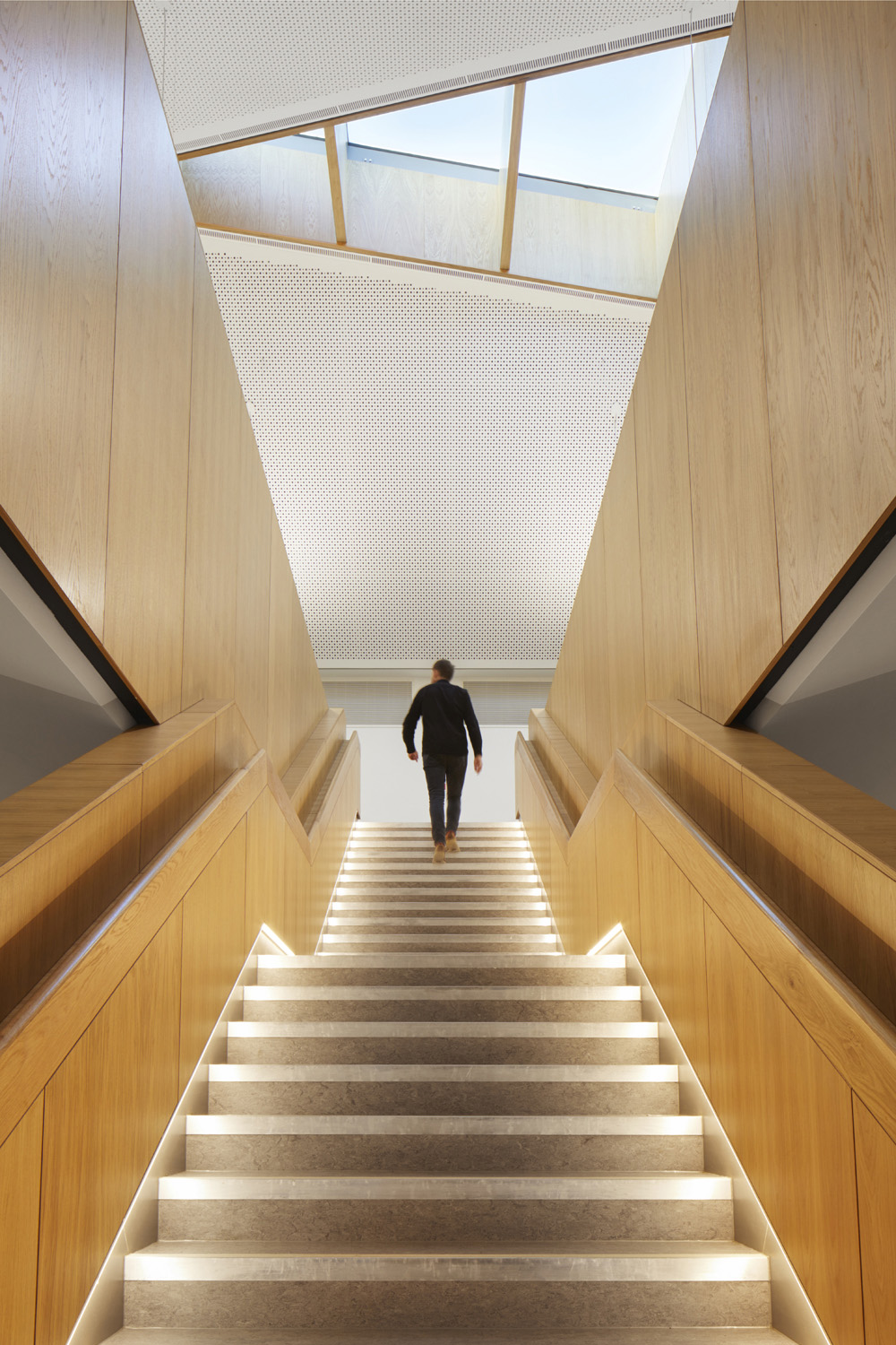 Stairs to top floor 'learning commons' Jack Hobhouse