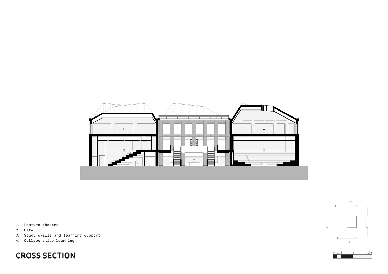Cross Section FaulknerBrowns Architects}