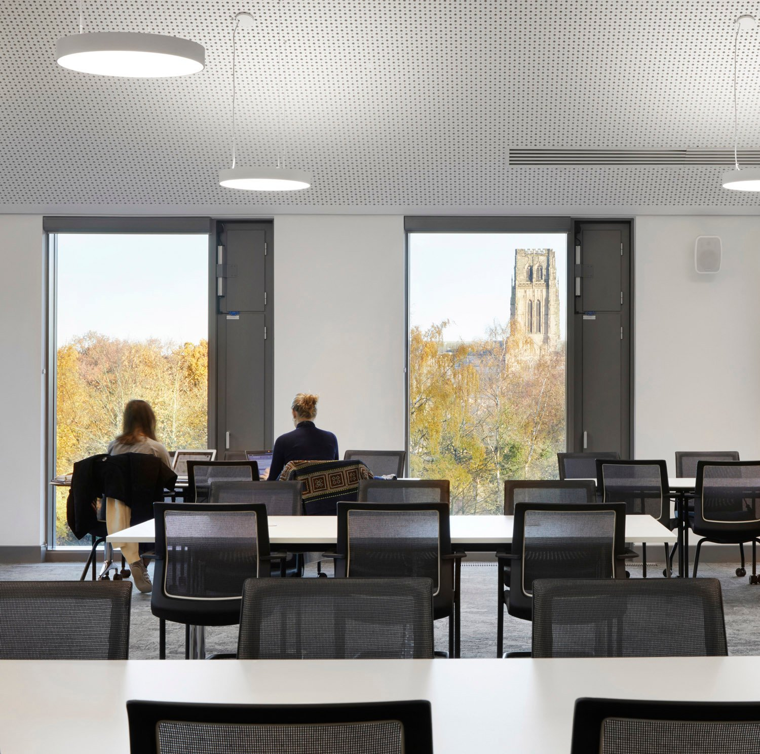 Full height windows provide views to the city's iconic cathedral Jack Hobhouse