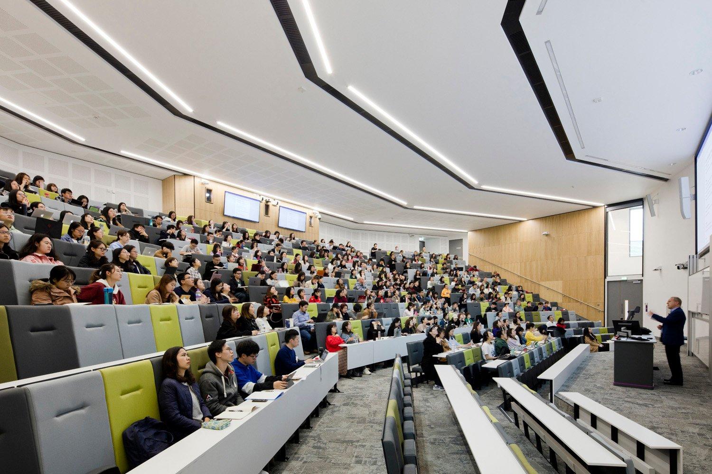 500 seat lecture theatre Kristen McCluskie