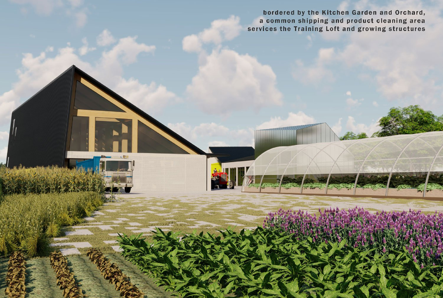 The Center articulates the working farm as a next-generation civic infrastructure. University of Arkansas Community Design Center}