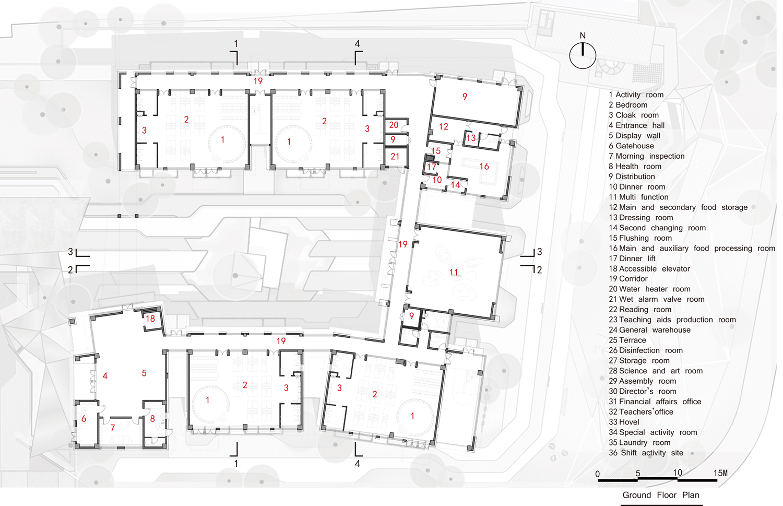 ground floor plan Lacime Architects}