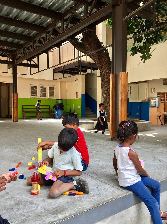 Multifunctional space below the classroom Soumitro Ghosh