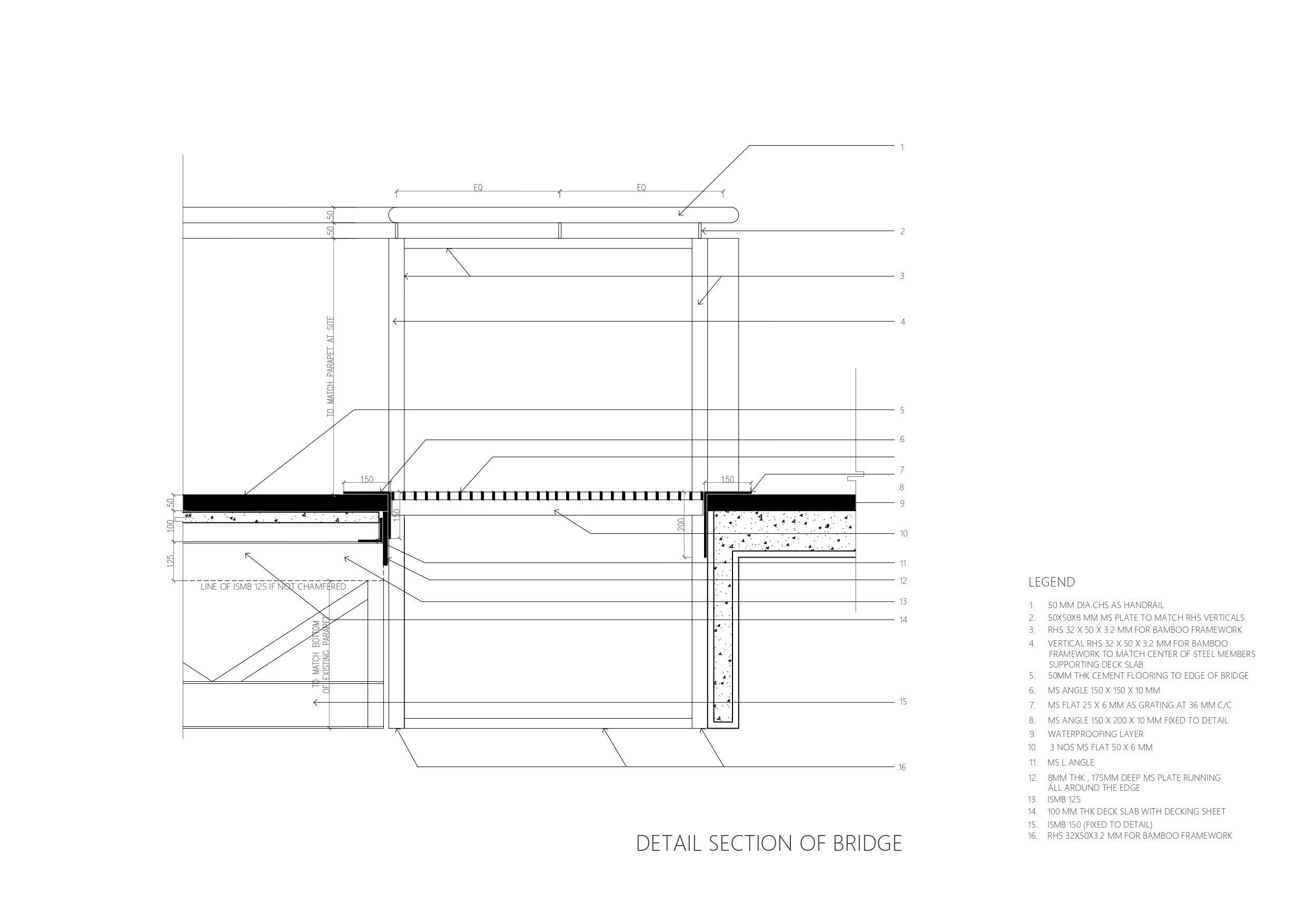 Detail Section of bridge MGA}