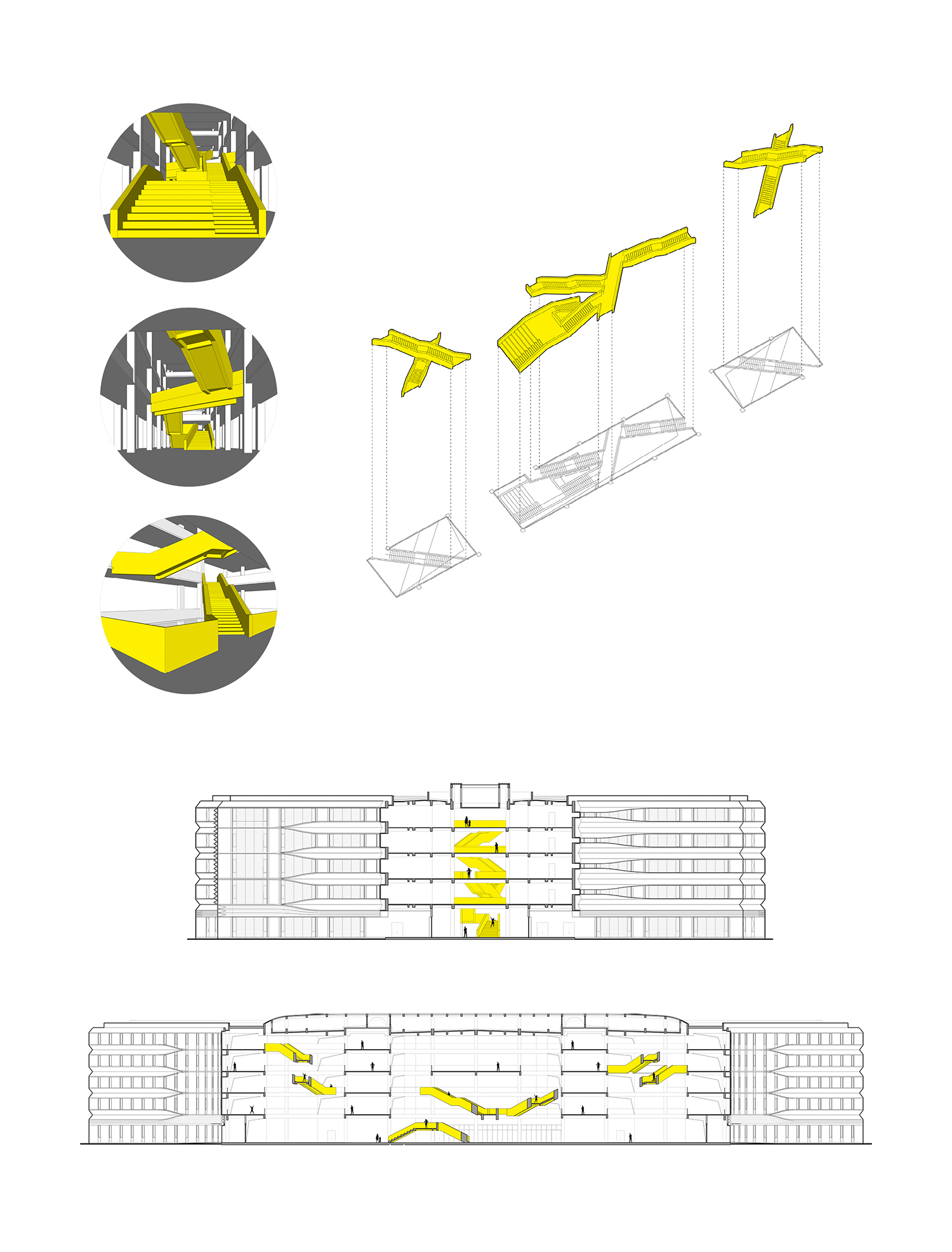 Analysis of the stairs of the main campus gad · line+ studio}