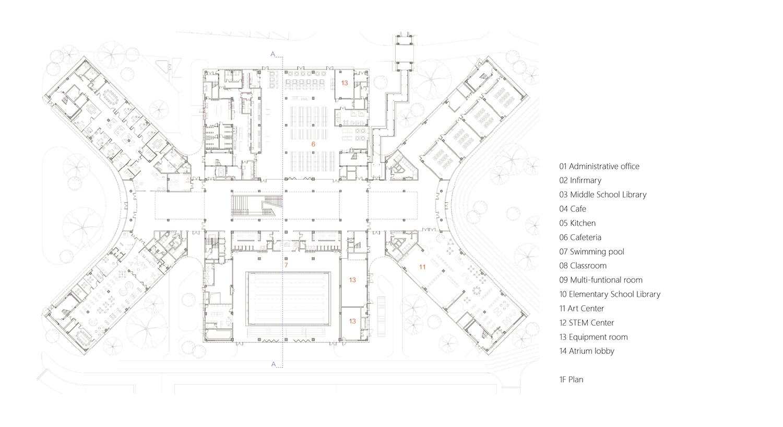 Main campus 1F plan gad · line+ studio}