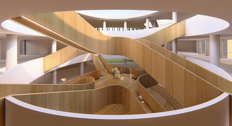 Multi dimensional interactive space in kindergarten gad · line+ studio
