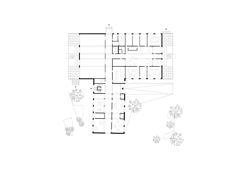 Floor Plan Ground Floor Schenker Salvi Weber Architects}