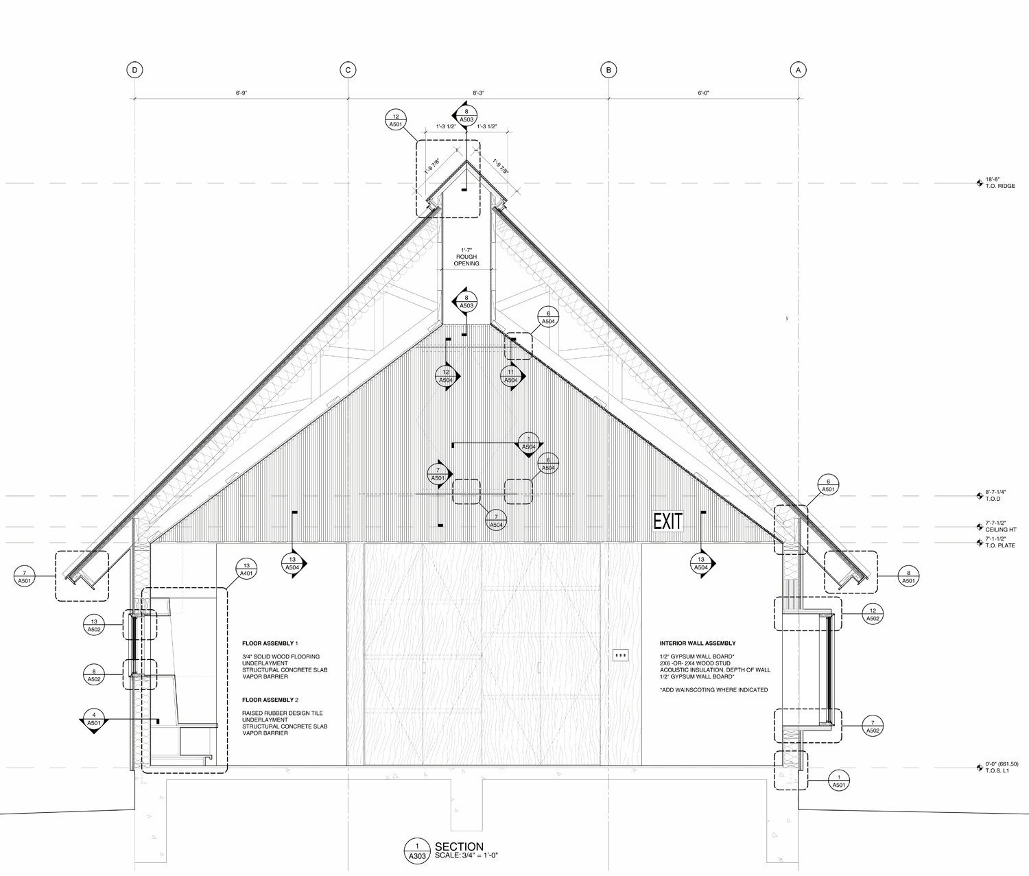 Little Tiger: Construction Drawings Detail Cross section Murray Legge Architecture}