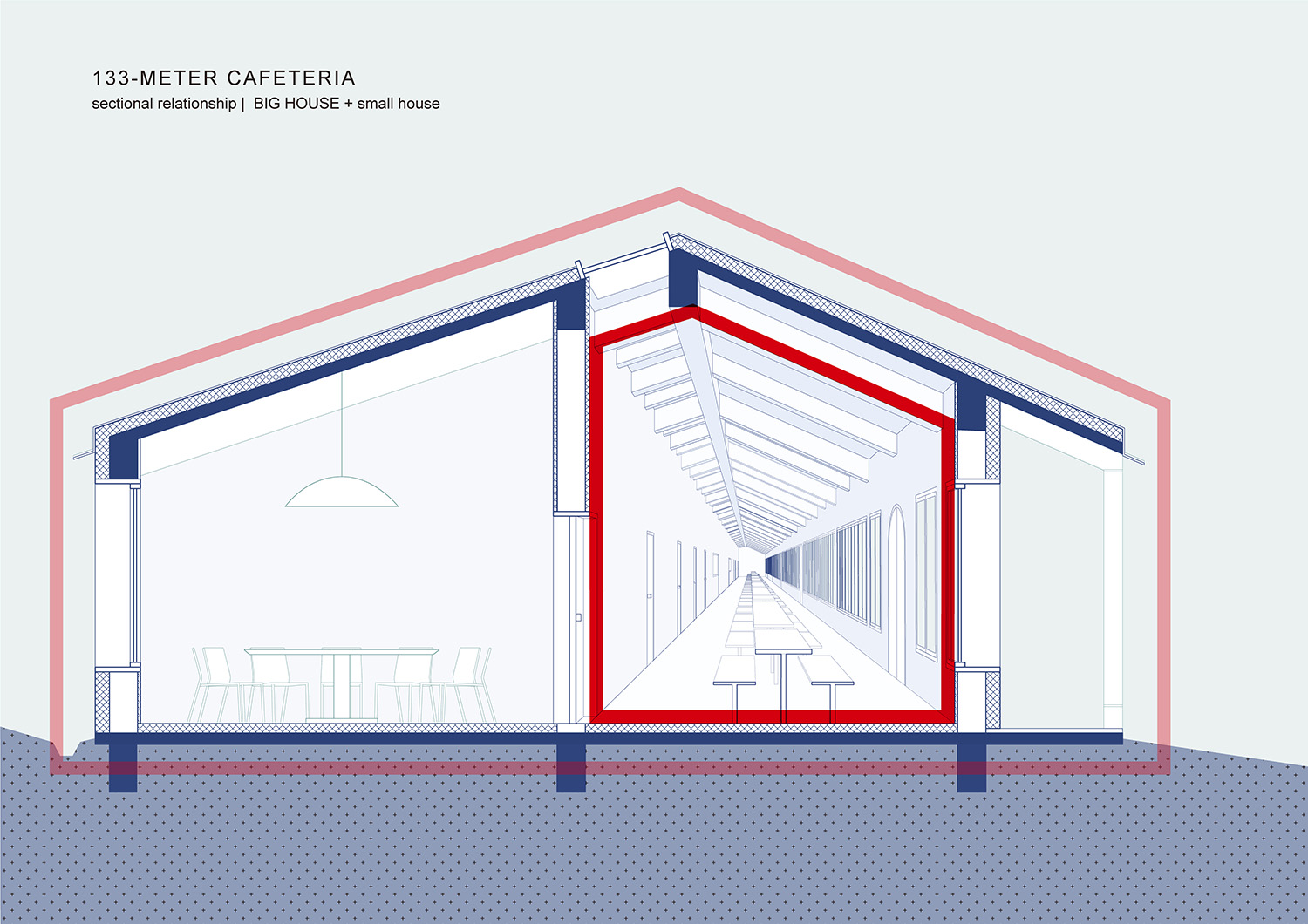 06_EKATO-METER CAFETERIA_Big House and Small House Diagram STUDIO QI}