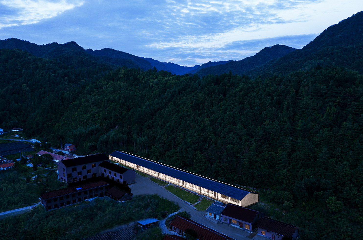 12_Ekatometer Cafeteria_Village Night View Wu Qingshan