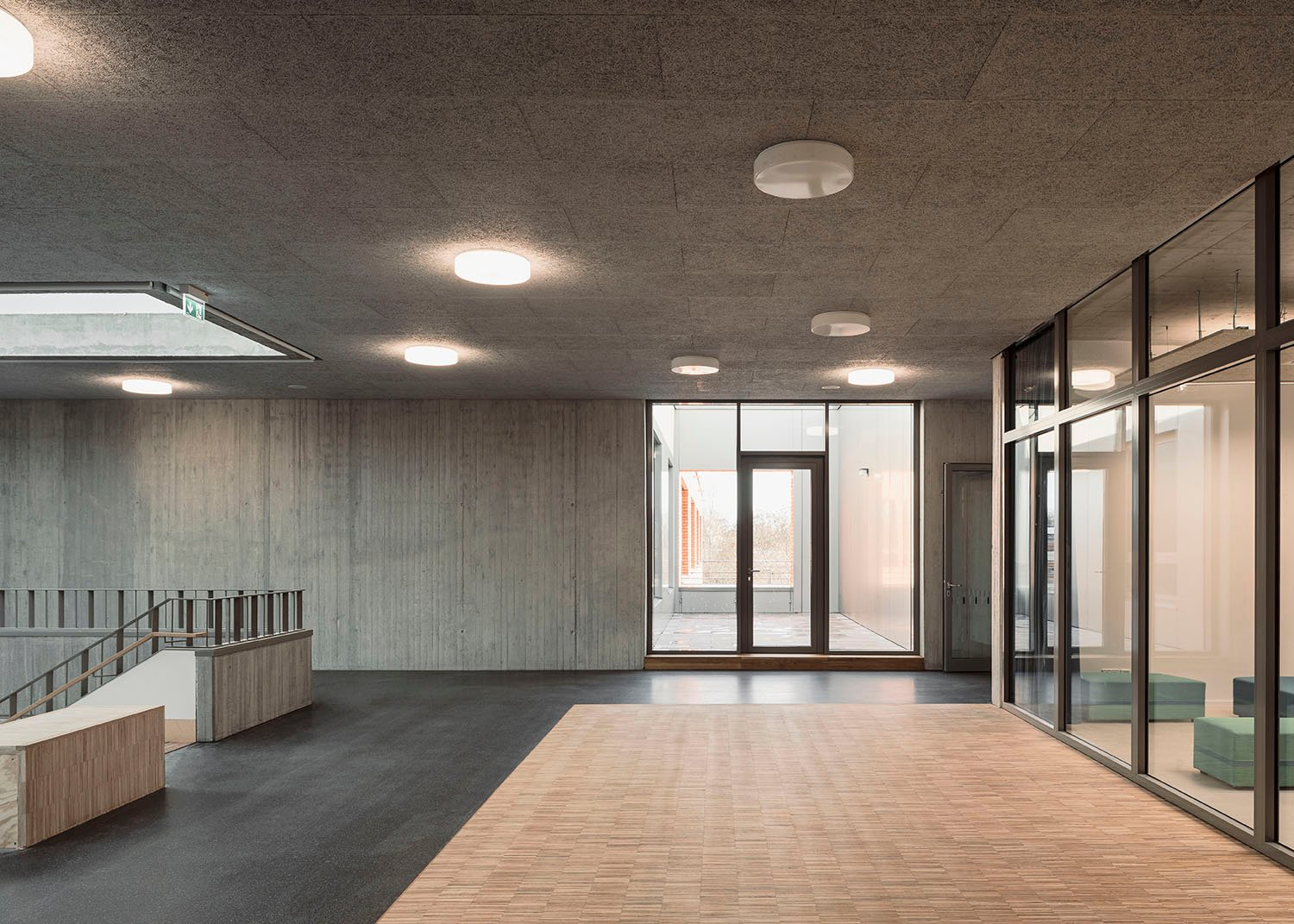 hall, library and inner courtyard Philipp Obkircher