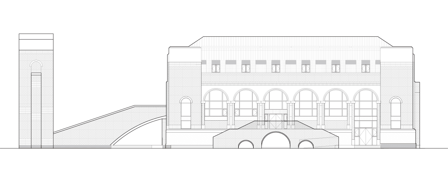 A2 Conference Hall South Elevation Ziwei He}